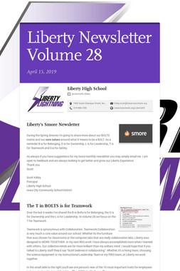 Liberty Newsletter Volume 28