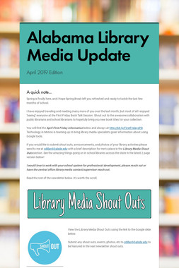 Alabama Library Media Update
