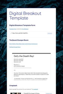 Digital Breakout Template