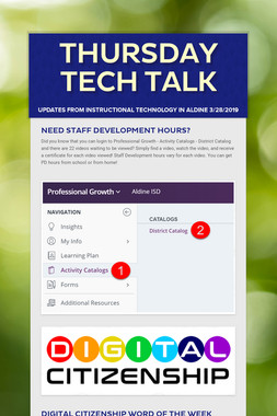 Thursday Tech Talk