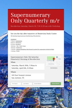 Supernumerary Only Quarterly m/r