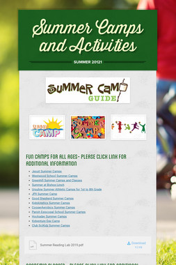 Summer Camps and Activities