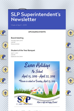 SLP Superintendent's Newsletter