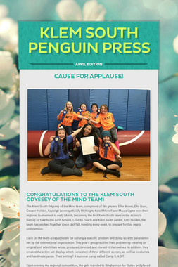 Klem South Penguin Press