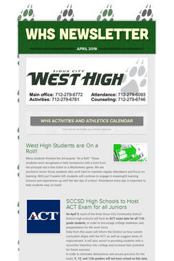 WHS Newsletter