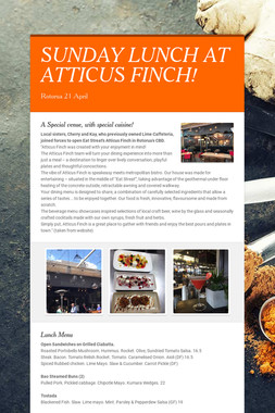 SUNDAY LUNCH AT ATTICUS FINCH!