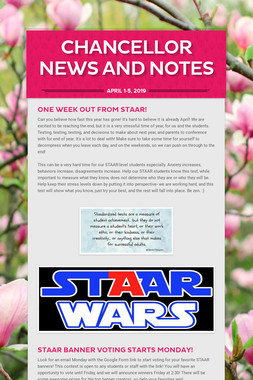 Chancellor News and Notes