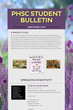 PHSC Student Bulletin