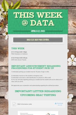 This Week @ DATA
