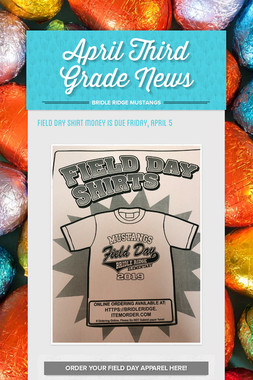 April Third Grade News