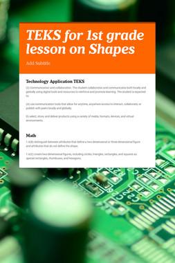 TEKS for 1st grade lesson on Shapes