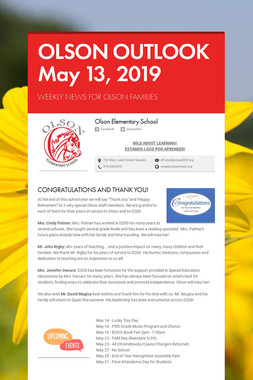 OLSON OUTLOOK   May 13, 2019