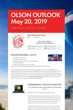 OLSON OUTLOOK   May 20, 2019