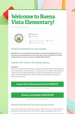Welcome to Buena Vista Elementary!