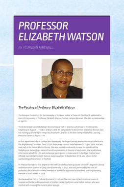 PROFESSOR ELIZABETH WATSON