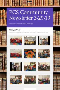 PCS Community Newsletter 3-29-19