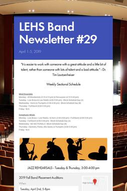 LEHS Band Newsletter #29