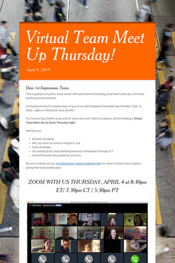 Virtual Team Meet Up Thursday!