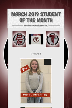 MARCH 2019 Student of the Month
