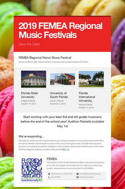 2019 FEMEA Regional Music Festivals