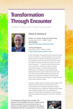 Transformation Through Encounter