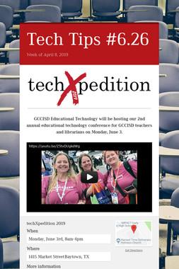 Tech Tips #6.26