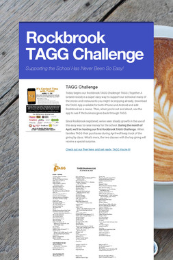 Rockbrook TAGG Challenge