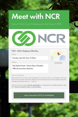 Meet with NCR
