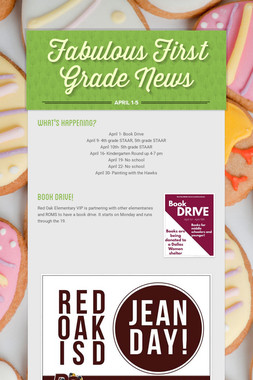 Fabulous First Grade News
