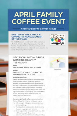 April Family Coffee Event