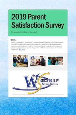 2019 Parent Satisfaction Survey