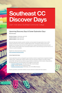 Southeast CC Discover Days