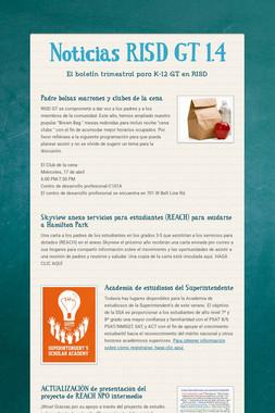 Noticias RISD GT 1.4