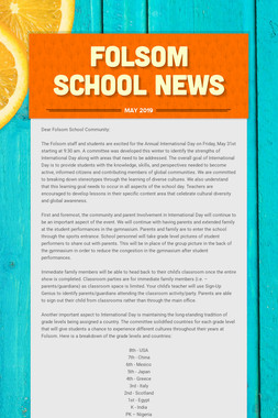 Folsom School News