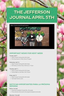 The Jefferson Journal April 5th