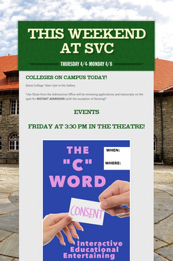 This Weekend at SVC
