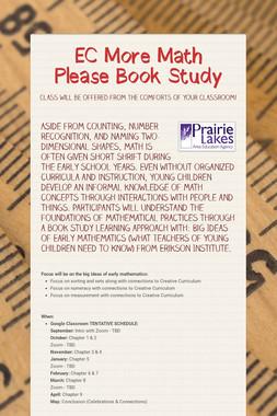 EC More Math Please Book Study