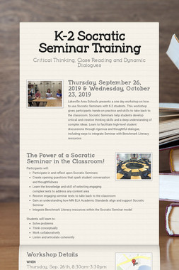 K-2 Socratic Seminar Training