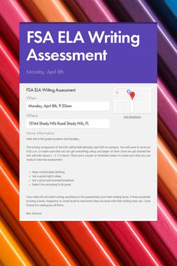 FSA ELA Writing Assessment