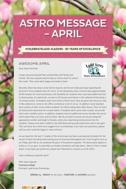Astro Message - April