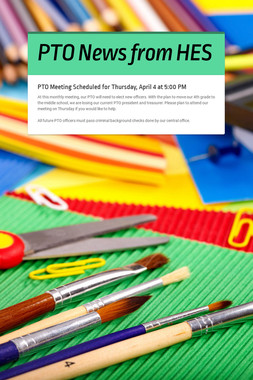 PTO News from HES