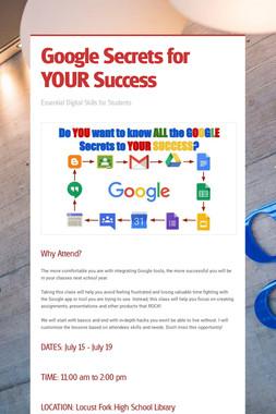 Google Secrets for YOUR Success