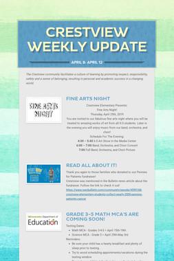 Crestview Weekly Update