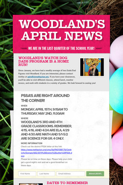 Woodland's April News