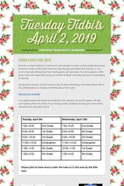 Tuesday Tidbits April 2, 2019