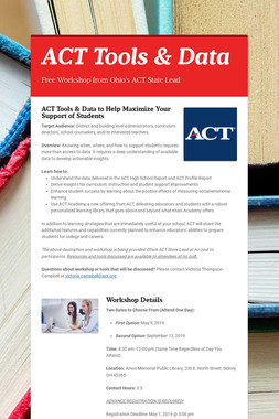 ACT Tools & Data