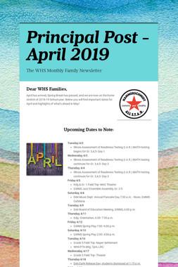 Principal Post -April 2019