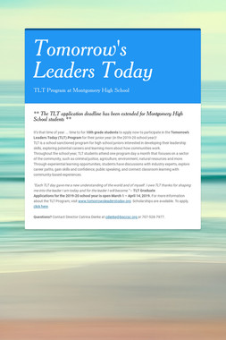 Tomorrow's Leaders Today