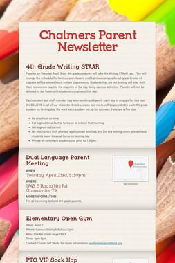 Chalmers Parent Newsletter