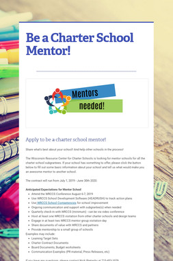 Be a Charter School Mentor!
